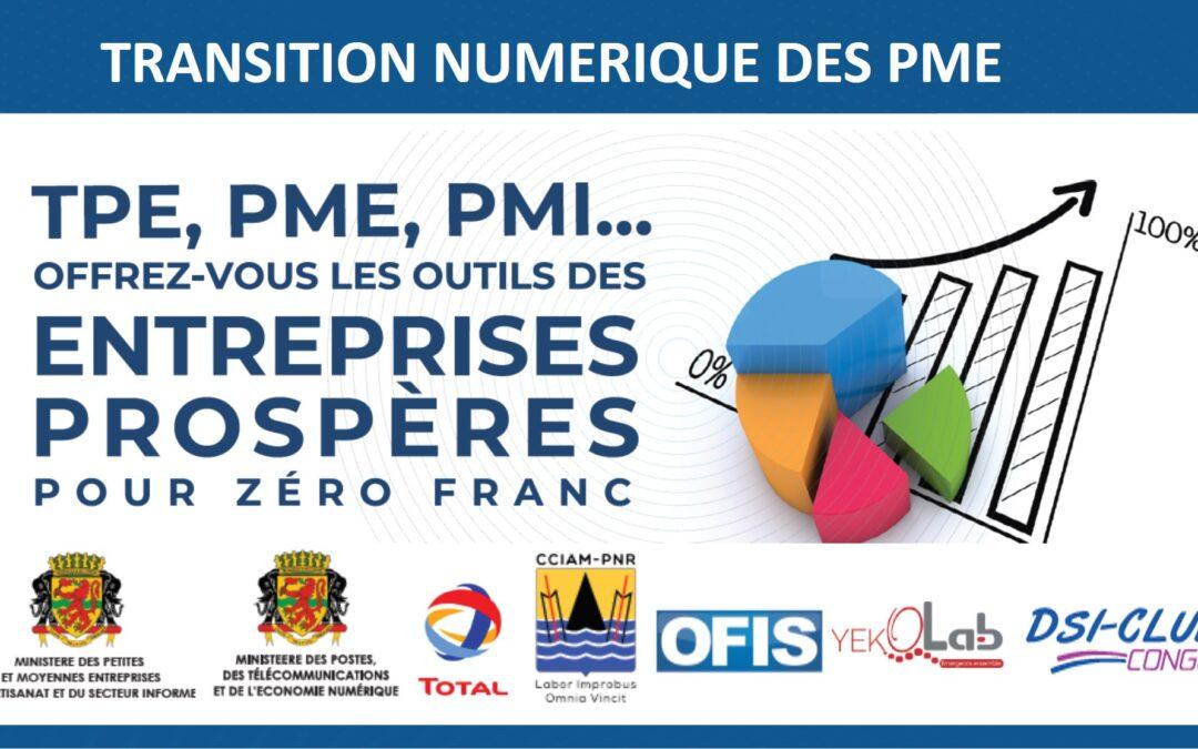 Où en sommes-nous du projet de transition numérique des PME congolaises, en janvier 2020 ?